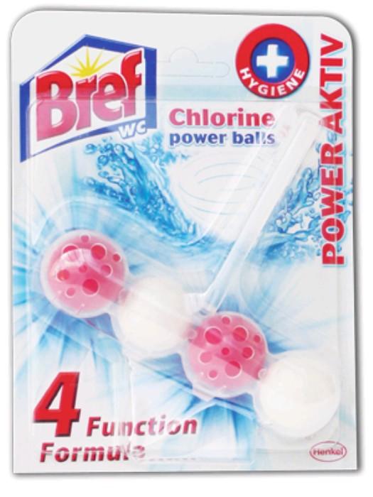 Bref Power Aktiv WC-tisztító nagyker ár-Chlorine illatú tisztító illatosító golyók WC-kagylóba - Vegyiáru nagykereskedés Budapesten